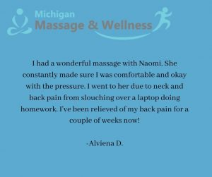 Troy Michigan massage therapist