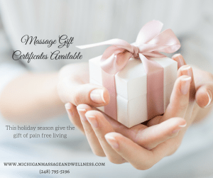 massage therapy gift certificates troy michigan
